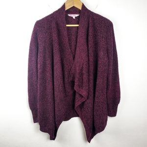 Candie's | Purple Open Front Knit Cardigan Women L